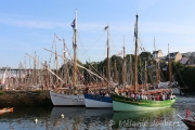 <h5>La bateaux traditionnels dans le Port-Rhu</h5>